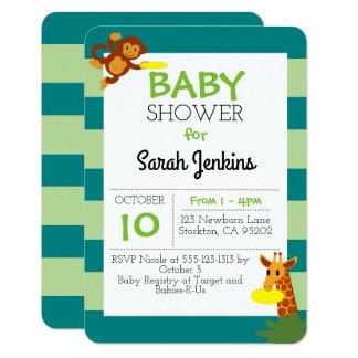 Invitación de la fiesta de bienvenida al bebé 3x5