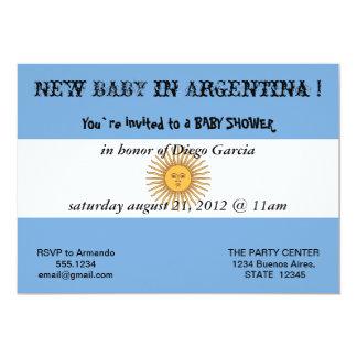 Invitación de la fiesta de bienvenida al bebé con
