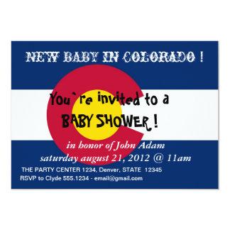 Invitación de la fiesta de bienvenida al bebé con invitación 12,7 x 17,8 cm