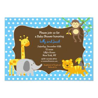 Invitación de la fiesta de bienvenida al bebé de invitación 12,7 x 17,8 cm