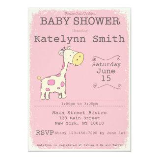 Tarjeta Invitación de la fiesta de bienvenida al bebé de
