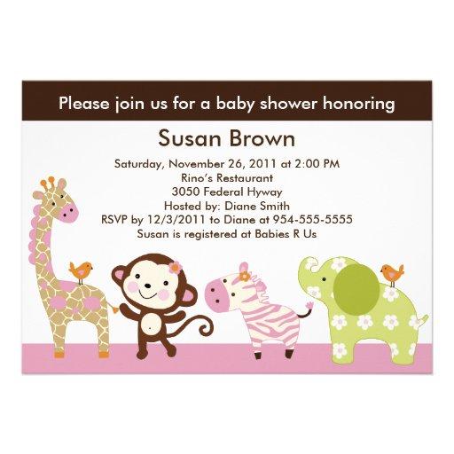 Invitación de la fiesta de bienvenida al bebé de l