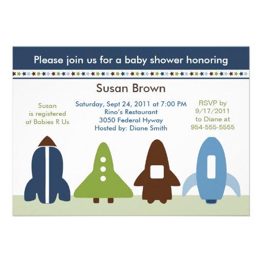 Invitación de la fiesta de bienvenida al bebé de R