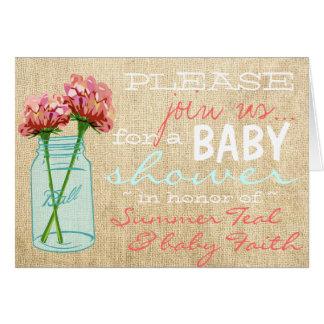 Invitación de la fiesta de bienvenida al bebé de tarjeta pequeña
