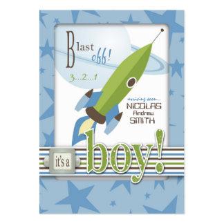 Invitación de la fiesta de bienvenida al bebé de tarjetas de visita grandes