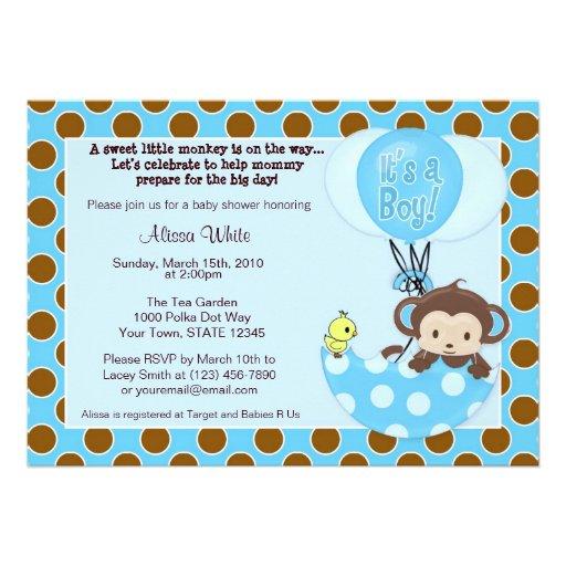 Monkey Shower Invitations was great invitations ideas