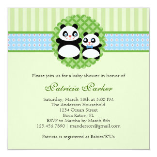 Invitación de la fiesta de bienvenida al bebé del