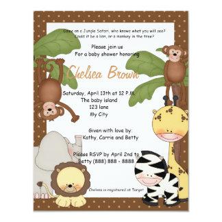 Invitación de la fiesta de bienvenida al bebé del invitación 10,8 x 13,9 cm