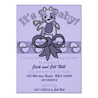 Invitación de la fiesta de bienvenida al bebé del invitación 13,9 x 19,0 cm