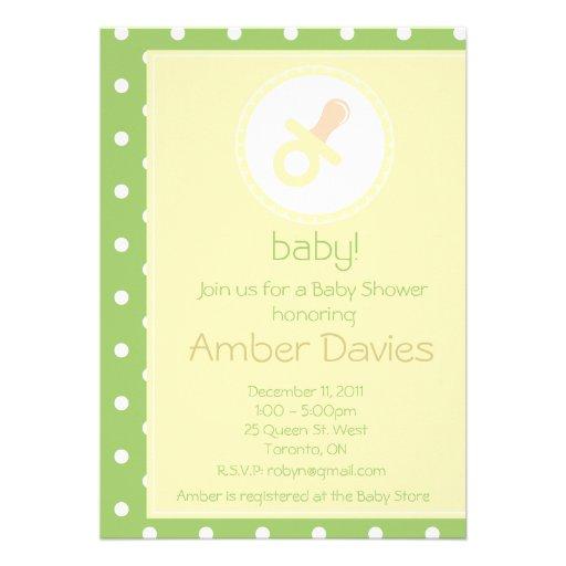 Invitación de la fiesta de bienvenida al bebé (neu