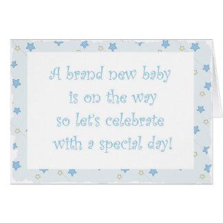 Invitación de la fiesta de bienvenida al bebé tarjetas