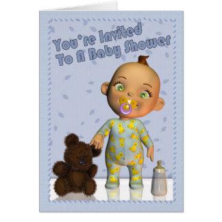 Invitación de la fiesta de bienvenida al bebé tarjeton