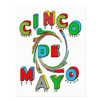 Invitación de la fiesta de Cinco de Mayo - postal