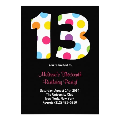 Invitaciones para cumpleaños de 13 años - Imagui