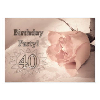 Invitación de la fiesta de cumpleaños 40 años