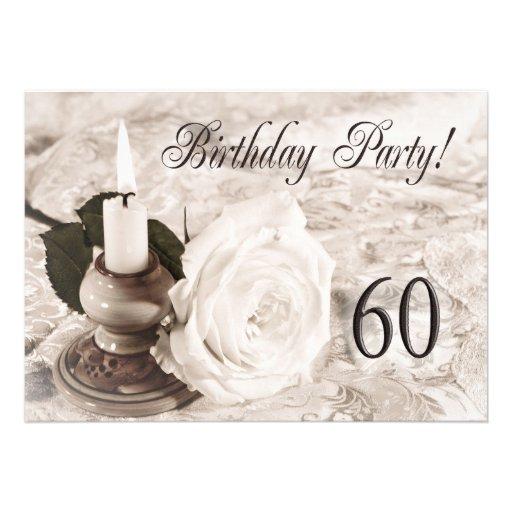 Invitaci n de la fiesta de cumplea os 60 a os invitaci n - Fiesta cumpleanos 8 anos ...