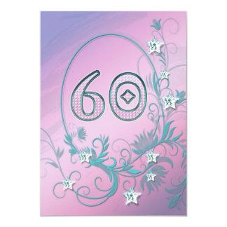 Invitación de la fiesta de cumpleaños 60 años