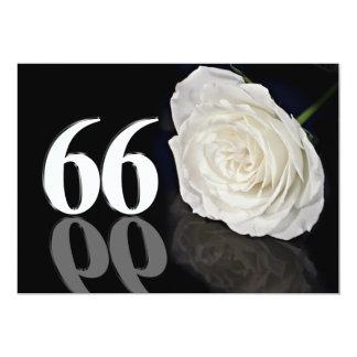 Invitación de la fiesta de cumpleaños 66 años