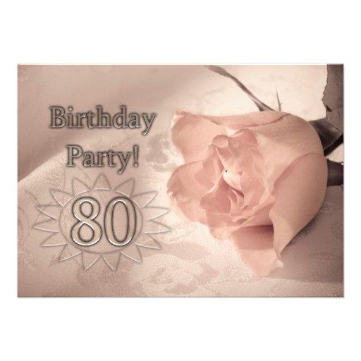 Invitación de la fiesta de cumpleaños 80 años de Zazzle.