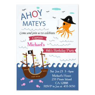 Invitación de la fiesta de cumpleaños de capitán