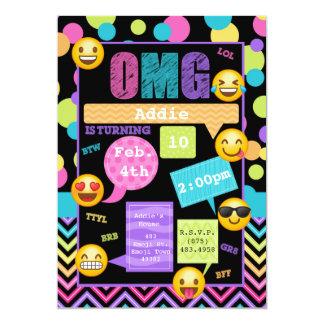 Invitación de la fiesta de cumpleaños de Emoji