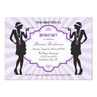 Invitación de la fiesta de cumpleaños de la aleta invitación 12,7 x 17,8 cm