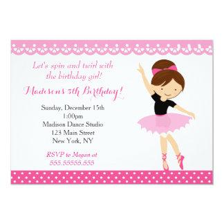 Invitación de la fiesta de cumpleaños de la danza
