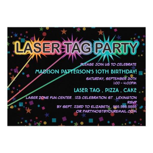 Invitación de la fiesta de cumpleaños de la etique