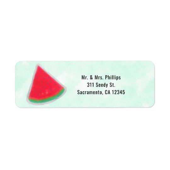 Invitación de la fiesta de cumpleaños de la etiqueta de remitente
