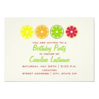Invitación de la fiesta de cumpleaños de la fruta