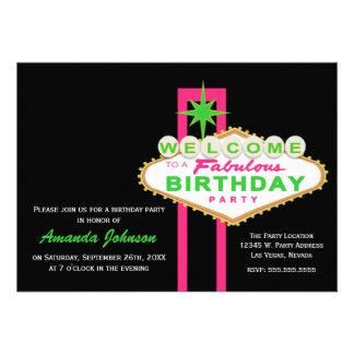 Invitación de la fiesta de cumpleaños de la muestr