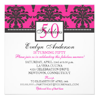 Invitación de la fiesta de cumpleaños de la mujer