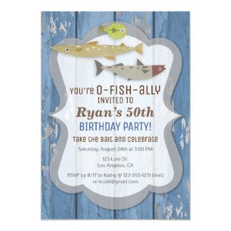 Invitación de la fiesta de cumpleaños de la pesca
