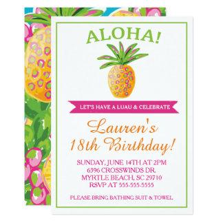 Invitación de la fiesta de cumpleaños de la piña