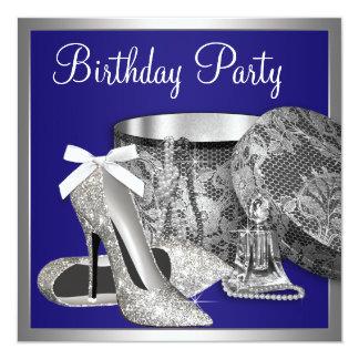 Invitación de la fiesta de cumpleaños de la plata