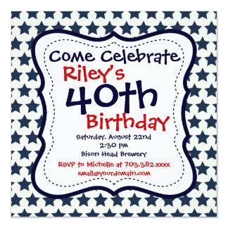 Invitación de la fiesta de cumpleaños de las invitación 13,3 cm x 13,3cm