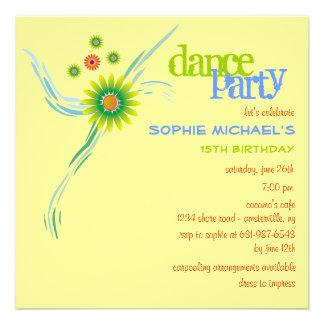 Invitación de la fiesta de cumpleaños de las zonas