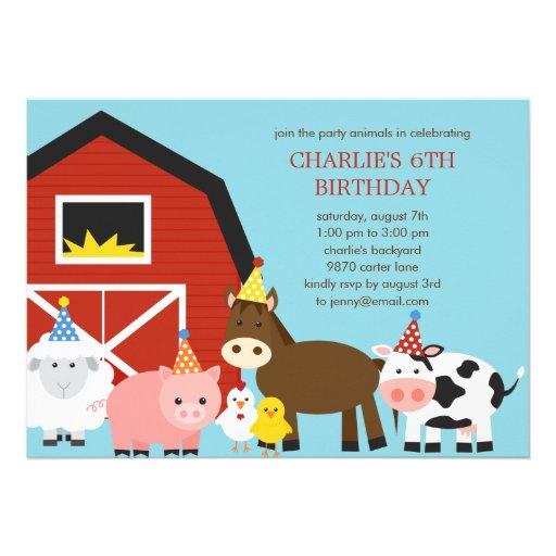 Invitación de la fiesta de cumpleaños de los anima