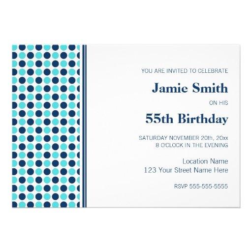 Invitación de la fiesta de cumpleaños de los punto