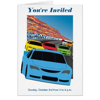Invitación de la fiesta de cumpleaños de los tarjeta de felicitación