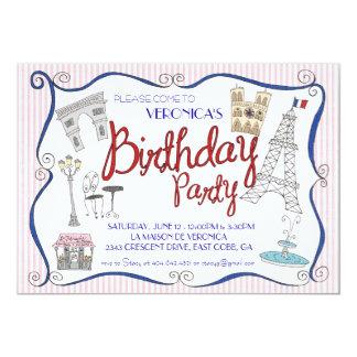 Invitación de la fiesta de cumpleaños de París