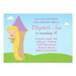 Invitación de la fiesta de cumpleaños de Rapunzel