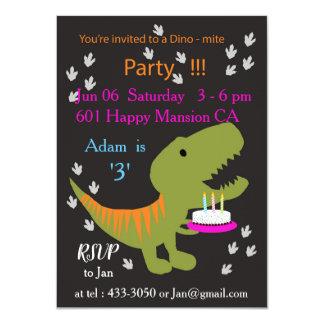 Invitación de la fiesta de cumpleaños de T-rex