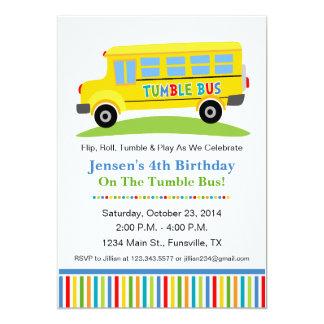 Invitación de la fiesta de cumpleaños del autobús