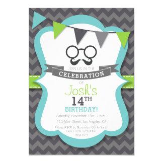 Invitación de la fiesta de cumpleaños del bigote