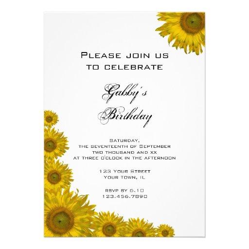 Invitación de la fiesta de cumpleaños del borde de de Zazzle.