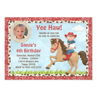 Invitación de la fiesta de cumpleaños del caballo