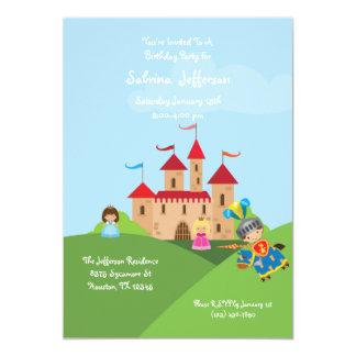 Invitación de la fiesta de cumpleaños del castillo
