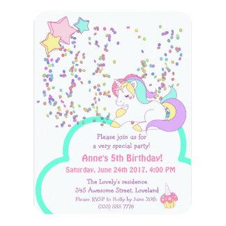 Invitación de la fiesta de cumpleaños del chica