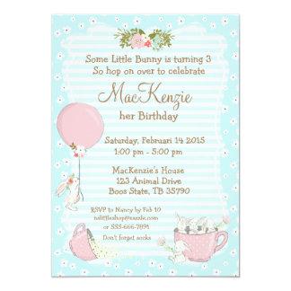 Invitación de la fiesta de cumpleaños del conejito